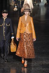 Louis Vuitton Fall 2012 Paillette Embellished Leather Maxi Skirt