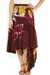 Missoni Prisca Ruffled Silkgeorgette Skirt in Multicolor (multicolored) - Lyst