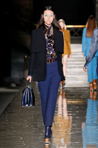 Miu Miu Fall 2012 Cobalt Blue Leather Top Handle Bag - Lyst