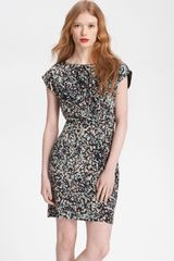 Paper Crown Wildflower Printed Silk Dress - Lyst
