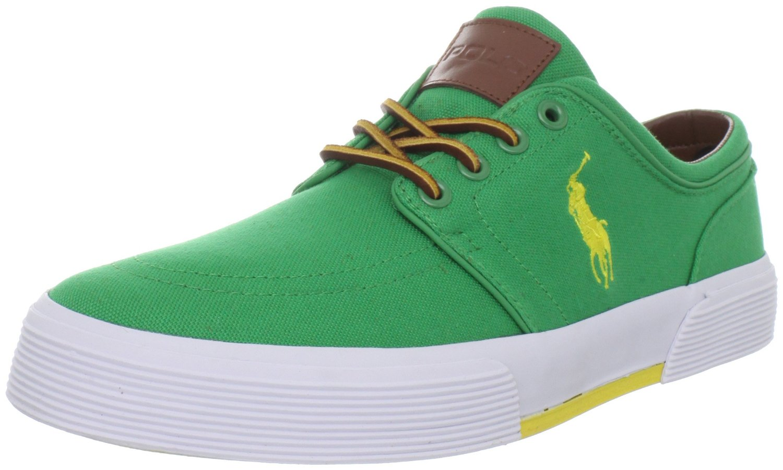 polo ralph lauren faxon low sneaker in green for men stem. Black Bedroom Furniture Sets. Home Design Ideas
