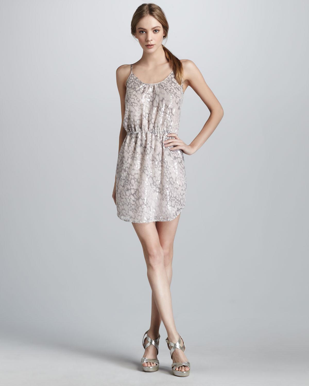 7170b140296a Rebecca Taylor Sequined Leopard-print Dress - Lyst