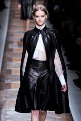 Valentino Fall 2012 Sheer Tie Neck Blouse - Lyst