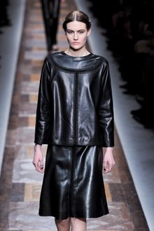 Valentino Fall 2012 Leather Tunic with Front and Back Stitching - Lyst