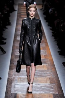 Valentino Fall 2012 Embroidered Leather Coat - Lyst