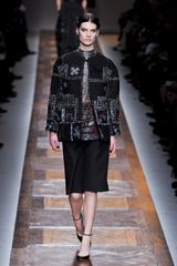 Valentino Fall 2012 Jacquard Blouse With Mandarin Collar  - Lyst