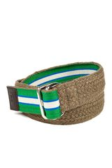 D&g Beige Bifabric Belt in Brown for Men (beige) - Lyst