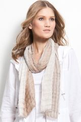 Eileen Fisher Fringed Scarf - Lyst