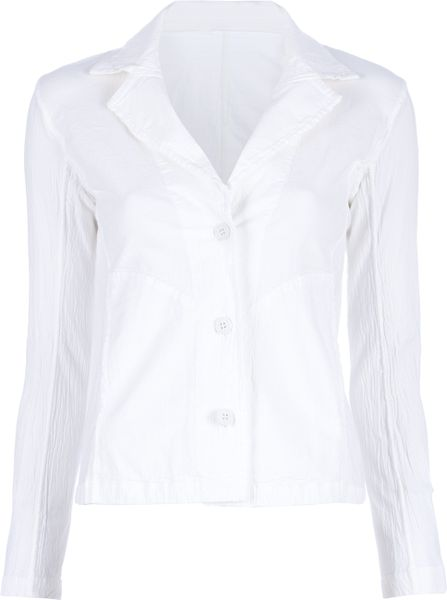 Issey Miyake Cauliflower Three Button Jacket in White - Lyst