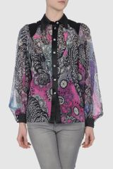 Matthew Williamson Long Sleeve Shirt in Multicolor (grey) - Lyst
