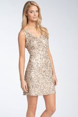 Pisarro Nights Sequin Cocktail Dress - Lyst