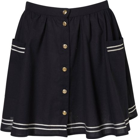 The skirt is a size 10 and the fabric is a beautiful thick tweed houndstooth that is a very dark navy blue and white/cream with specks of various colors Japanese School Girls Solid Pleated Mini Uniform Skirt Cheerleader Sailor Dress.