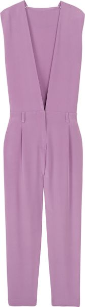 3.1 Phillip Lim Deep V Jumpsuit in Purple - Lyst
