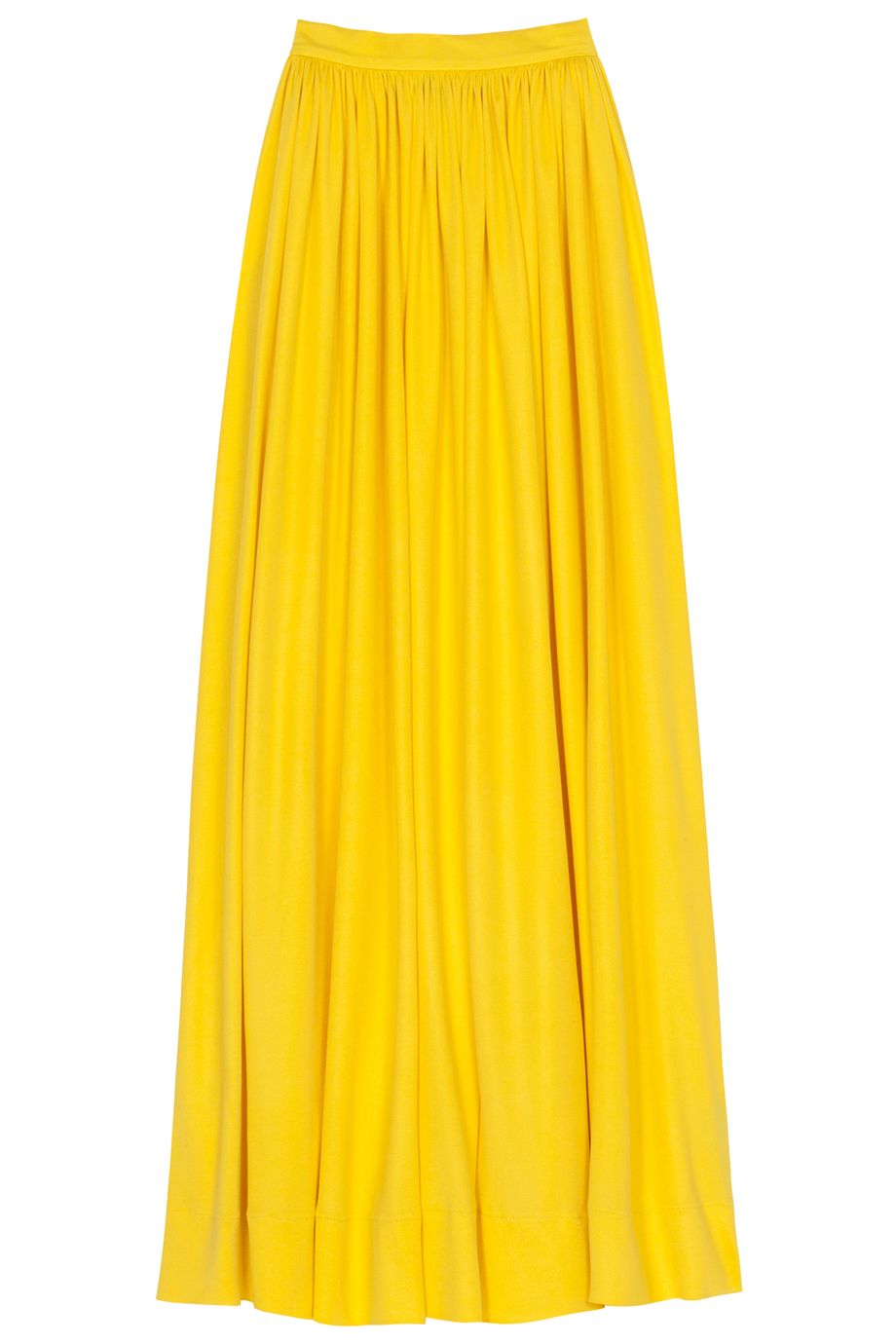 Martin grant Lk15 Long Silk Jersey Skirt in Yellow | Lyst