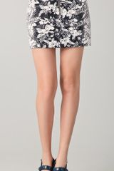 Alexander Wang Botanical Ombre Miniskirt in Gray (grey) - Lyst