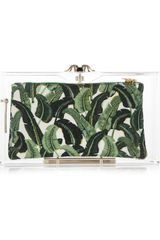 Charlotte Olympia Pandora Perspex Box Clutch in Green (black) - Lyst