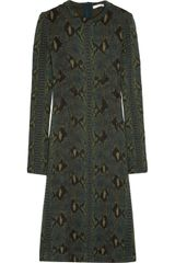 Chloé Python-print Wool Dress - Lyst