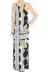 Emilio Pucci Printed Silk Maxi Dress in Multicolor (multicolored) - Lyst