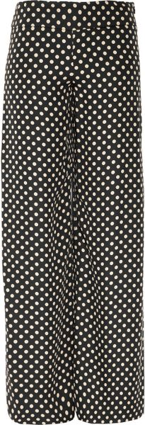 Haute Hippie Polkadot Print Silk Pants in Black - Lyst