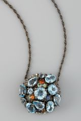 M.c.l By Matthew Campbell Laurenza Blue Topaz Droplet Pendant Necklace - Lyst