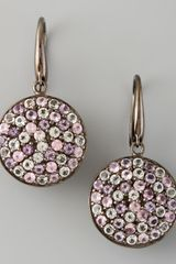 M.c.l By Matthew Campbell Laurenza Pave Sapphire Drop Earrings - Lyst