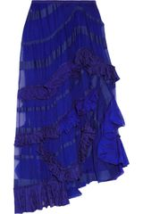 Missoni Haydee Silk-chiffon and Crochet-knit Skirt - Lyst