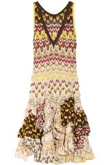Missoni Ruffled Crochet-knit Dress - Lyst
