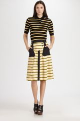 Proenza Schouler Striped Skirt - Lyst