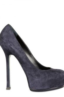 Yves Saint Laurent 140mm Tribtoo Suede Pumps - Lyst