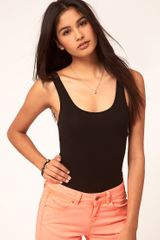 Asos Collection Asos Cross Strap Back Body in Black - Lyst