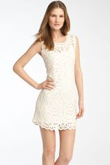 BCBGMAXAZRIA Crochet Lace Dress - Lyst