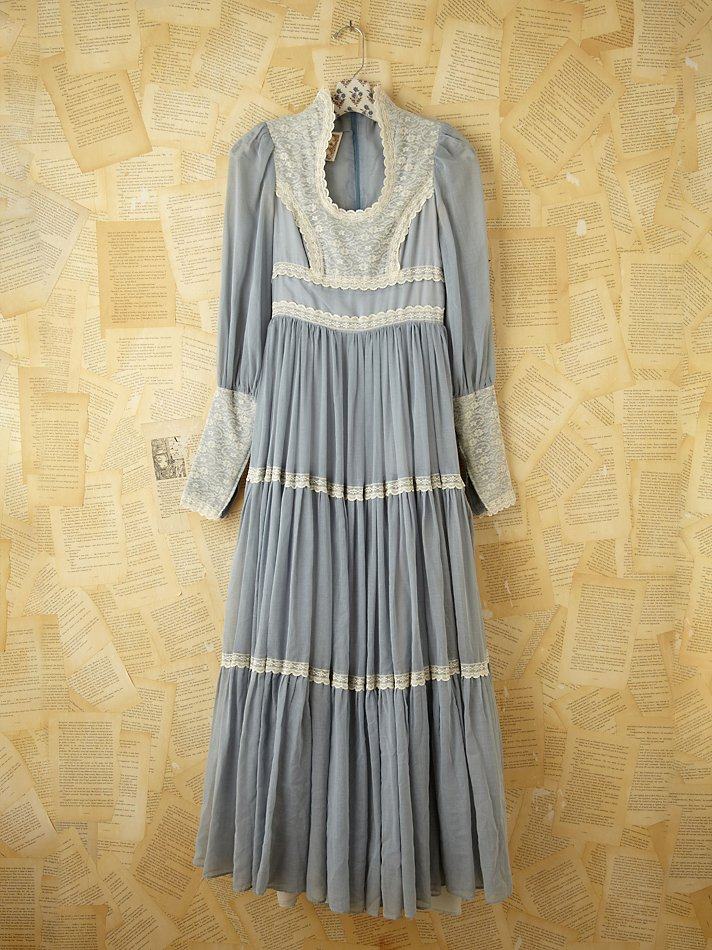 Free People Vintage Gunne Sax Dress In Blue Lyst