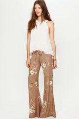 Free People Printed Drawstring Pant - Lyst