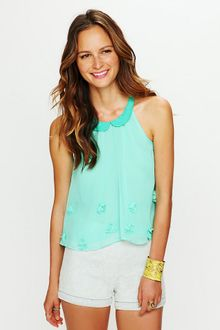 Free People Molly Flower Sheer Top - Lyst