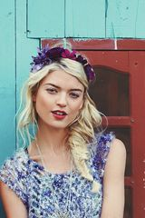 Free People Tonal Ribbon Flower Headdress - Lyst