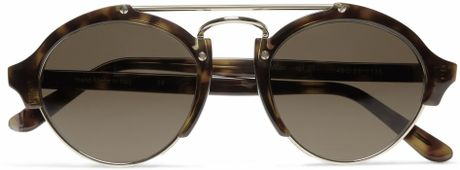 Illesteva Milan Acetate and Metal Roundframe Sunglasses in Brown for Men - Lyst