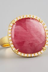 Marco Bicego Jaipur Red Sapphire and Diamond Ring - Lyst