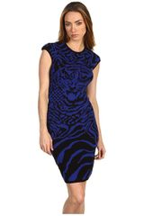 McQ by Alexander McQueen Zebratiger Dress - Lyst
