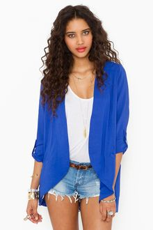 Nasty Gal Boardwalk Blazer - Blue - Lyst