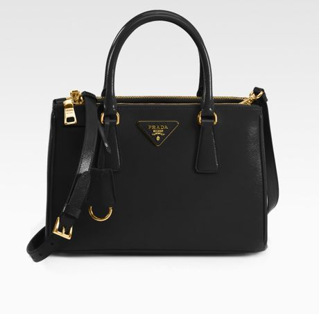 Prada Saffiano Vernice Tote Bag in Black - Lyst