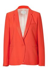 Sandro Tangerine One-button Jacket - Lyst