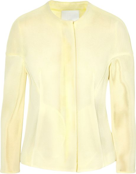 3.1 Phillip Lim Mesh Jacket in White - Lyst