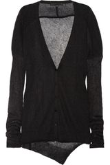 Alexander Wang Fine-knit Silk and Alpaca-blend Cardigan - Lyst