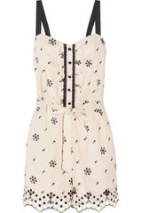 Alice By Temperley Printed Cotton Playsuit - Lyst