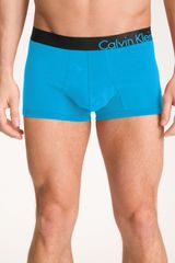 Calvin Klein Bold Cotton  Trunks in Blue for Men (splash) - Lyst