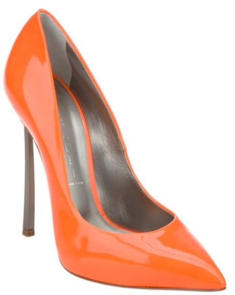 Casadei Stiletto Pump in Orange - Lyst