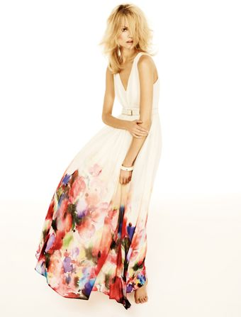 Mango Watercolor Flower Maxidress - Lyst