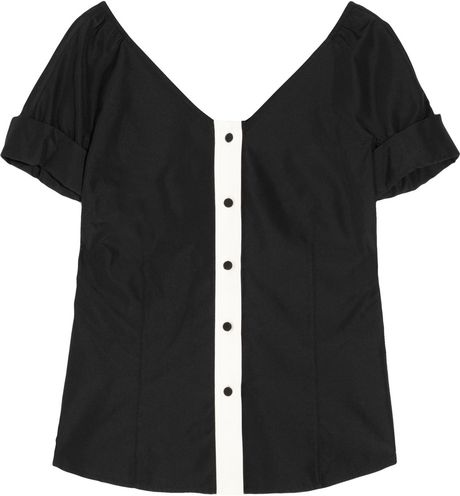 Marc Jacobs Silk Blouse in Black - Lyst