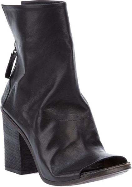 Marsell Peeptoe Ankle Boot in Black - Lyst