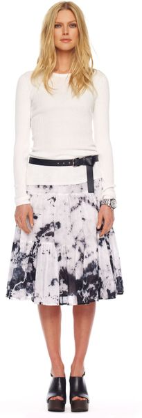 Michael Kors Tiedye Ruffled Skirt White in White - Lyst